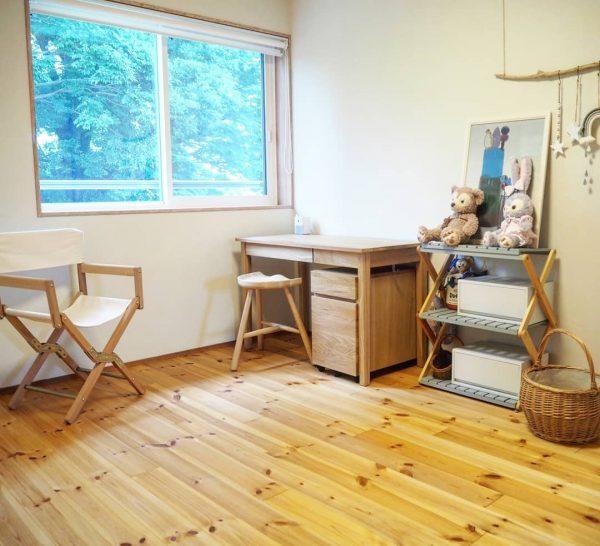 木の温もりを感じられる子供部屋