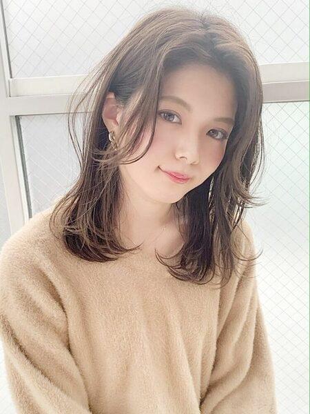 チークバング 髪型 ミディアム