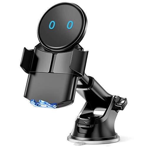 【最大15W】 車載Qi ワイヤレス充電車載ホルダー 15W/10W/7.5W/5W 粘着式&吹き出し口2種類取り付 iPhone12/12 pro/12 pro max/11/pro/pro max/X/XR/XS/XSMAX/8 Plus等に適用ワイヤレス充電機種に対応でき