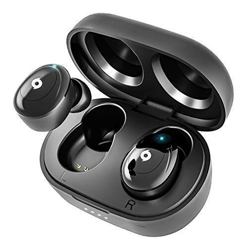 【超ミニ型 Bluetooth イヤホン】 ワイヤレスイヤホン Bluetooth 5.0 ブルートゥース イヤホン Hi-Fi 完全ワイヤレス イヤホン 自動ペアリング IPX6防水レベル【Siri対応/AAC対応/左右分離型/軽量】 (iPhone Android 対応) (ホワイト)
