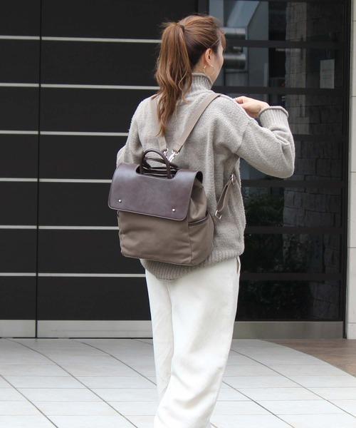 [VitaFelice] リュックサック レディースキャンバスバッグ 2way フラップリュック トートバッグ バックパック 通勤バッグ 収納 秋バッグ