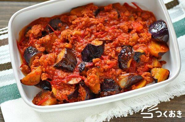 おすすめ!ひき肉となすのトマト煮