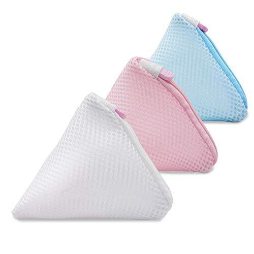 Hueapion 洗濯ネット マグネシウム粒 小 三角型 洗濯洗剤ネット おしゃれ 丈夫 洗剤ネット 粉石鹸ネット 溶け残りが衣類につかない (3個セット)