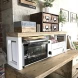 自分好みの使いやすいレンジ台を簡単DIY!キッチンにスッキリ収まるアイデア実例