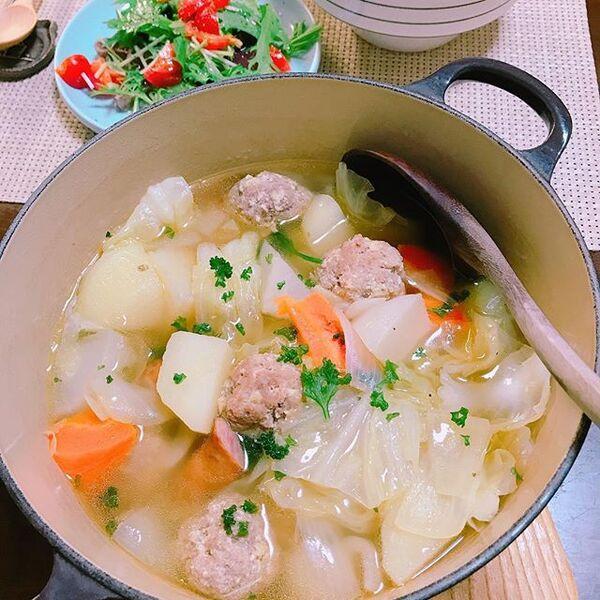 しっかりタンパク質!肉団子のポトフ鍋レシピ