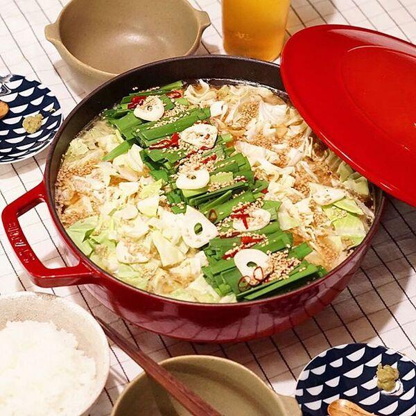 食物繊維豊富!キャベツたっぷりもつ鍋レシピ