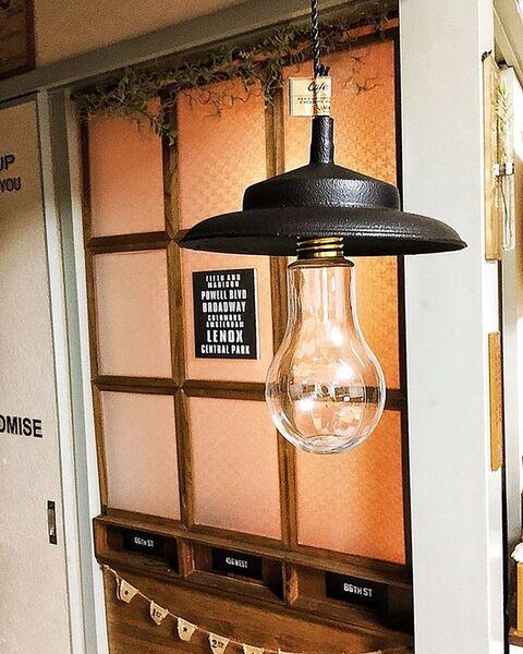 電球型空き瓶を電球風インテリアにリメイク