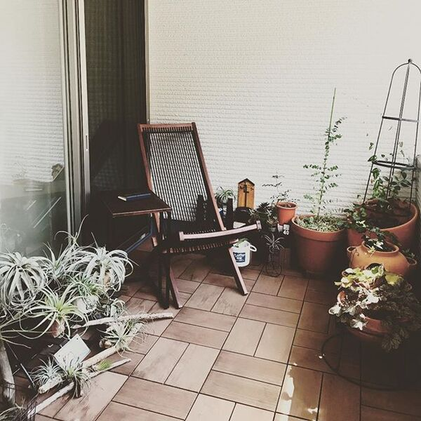 ベランダのカフェ風インテリア12