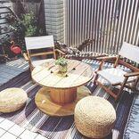 自宅のベランダを自分だけのカフェに。おしゃれな空間が魅力的なインテリア実例