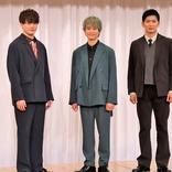 A.B.C-Z戸塚祥太、冨岡健翔ら後輩たちの「安心していただけるような存在でいたい。反面教師にもなれれば」と笑顔 舞台『未来記の番人』製作発表記者会見