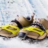 凍った道路の転倒対策に!普段靴にも取り付けられる『CAMP アイスマスター ライト』を実際に装着してためしてみた