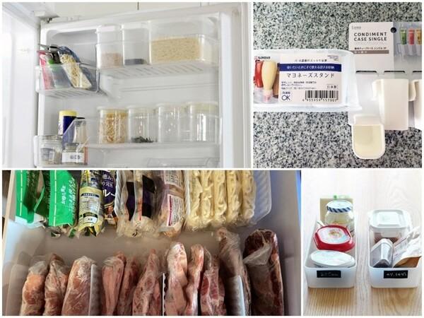 冷蔵庫の中身がギュウギュウの満タンになっていませんか? ダイソー・セリア・無印良品などのグッズを知り尽くした整理収納のプロたちが、冷蔵庫収納に役立つ選び抜いた収納アイテムをご紹介します。