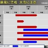 28日夜から日本海側を中心に大荒れ 暴風に警戒・大雪に注意する期間は?