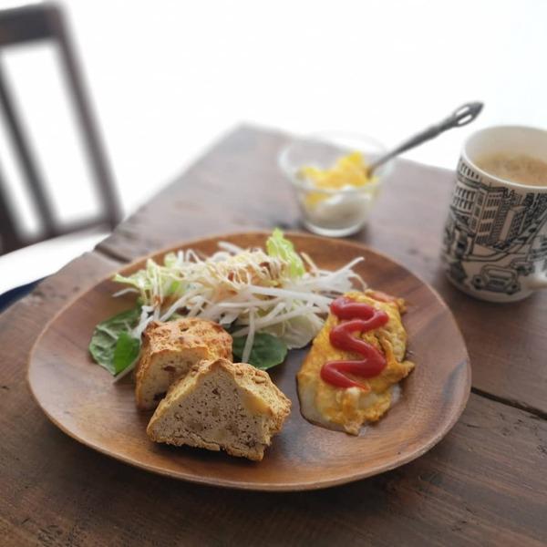 コストコのアイリッシュスコーンの朝食の写真