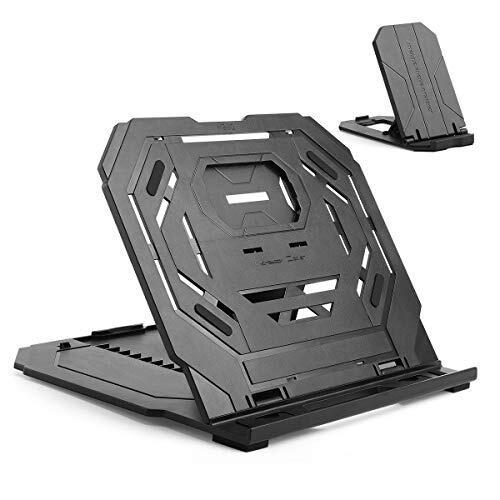 タブレットスタンド ノートパソコンスタンド ペンタブレット用折りたたみ式ホルダー 12-17インチ用 9段階調整 放熱対策 持ち運び便利 ペンタブレット/MacBook/ラップトップ/iPad/タブレット/本など対応