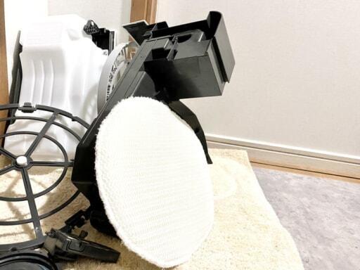 フィルターなどの部品をしっかりと水洗いして乾かす