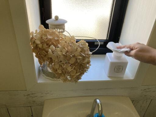 クエン酸水を入れたトイレ掃除用のボトル