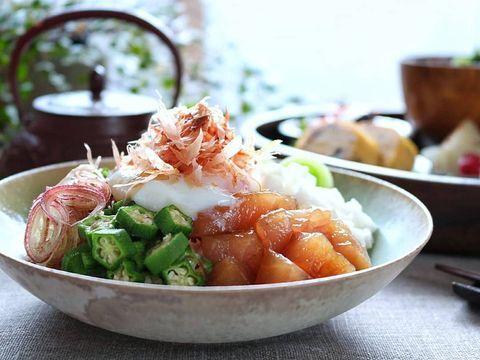 お刺身で簡単レシピ☆まぐろのネバネバ丼