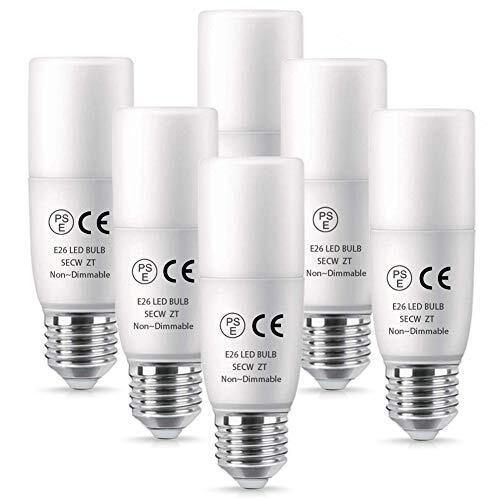 LED電球 E26 ミニクリプトン 5.5W 昼白色 T形 60W形相当 600ルーメン パルックボール(D25形) 全配光タイプ EFD25・EFD15 代替推奨 断熱材施工器具対応 斜め付き 横挿し向け専用 密閉形器具対応 PSE認証取得 明るい Alantis(6個入)