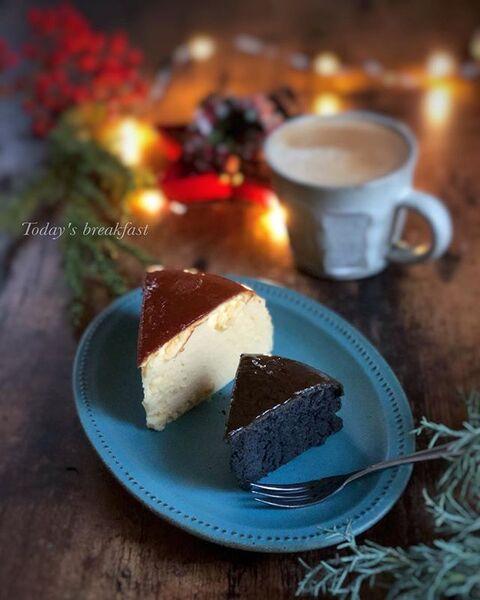 チョコレート、チーズケーキ、スイーツ。