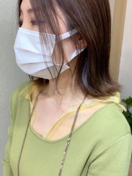 マスクに似合うおしゃれな切りっぱなしボブ