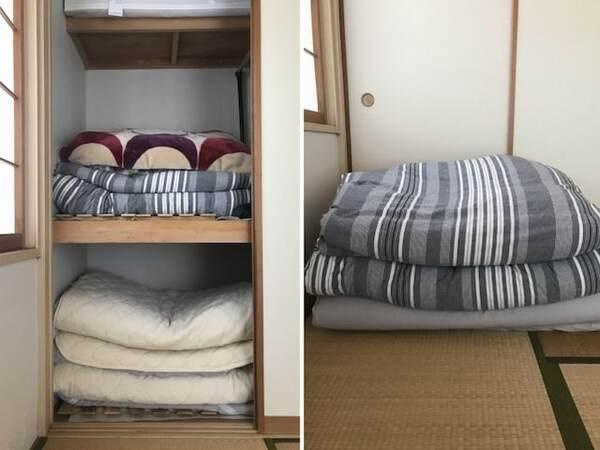 押し入れのスペースに余裕ができて、布団の出し入れがラクになる