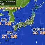 東日本と西日本 広い範囲で最高気温20度以上 大型連休の頃の暖かさ