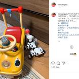 """稲垣早希、1歳の息子に引き継いだ""""車""""を公開「車検に出した方が良さそうです」"""