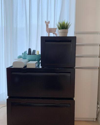 腰の高さの家具はモノが使いやすく取り出しやすい高さ