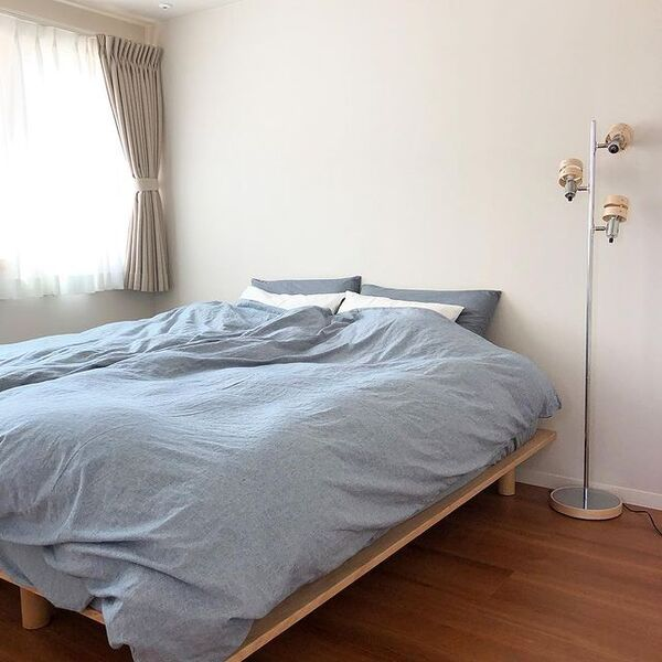 シングルベッドを使った寝室レイアウト