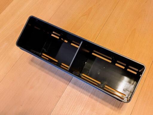 山崎実業のTOWERシリーズの黒の長方形の収納ケース