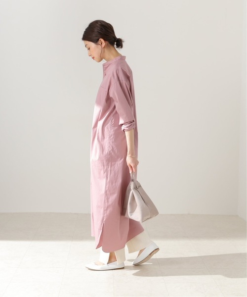 [IENA] 【LENO / リノ】 BAND COLLER PULL DRESSワンピース【洗濯機洗い可】