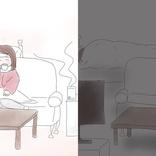 あなたの想像する「生理休暇」はどちら? 起き上がれるケースと寝込んでしまうケースの比較イラストに熱視線、重い人からは「的確すぎる」「廃人」
