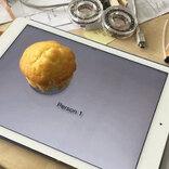 iPadのタッチ画面でマフィンの識別に成功