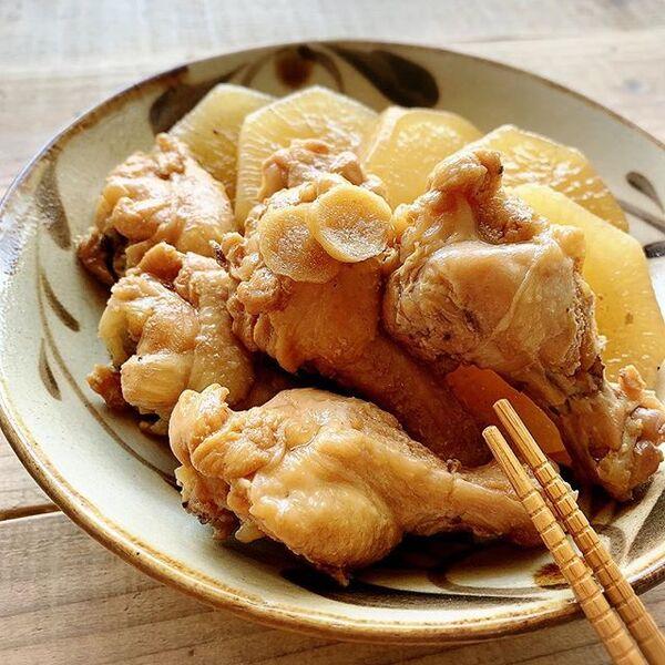 数分の加圧で初心者おすすめ鶏肉と大根煮