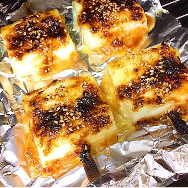 ちょっとした副菜!白ねぎの味噌マヨ焼き