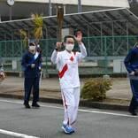 ANA平子社長、被災地を快走 五輪聖火リレースタート