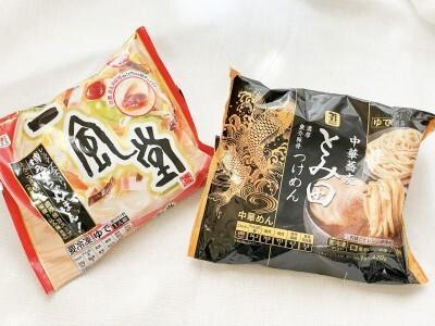 冷凍食品「一風堂 ちゃんぽん!」:386円/とみ田つけめん:429円(ともに税込)