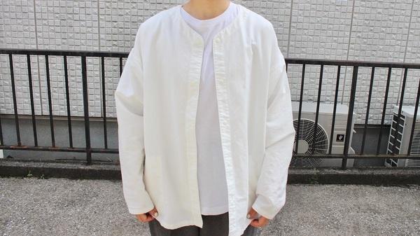MUJI Labo 「太番手洗いざらしオックスリバーシブルシャツ XXS~XS・オフ白」 7,990円(税込)