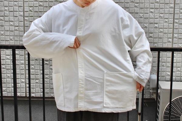 MUJI Laboの「太番手洗いざらしオックスリバーシブルシャツ」