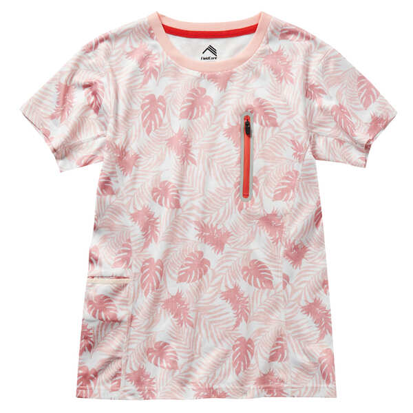 レディースハニカムドライプリントTシャツ