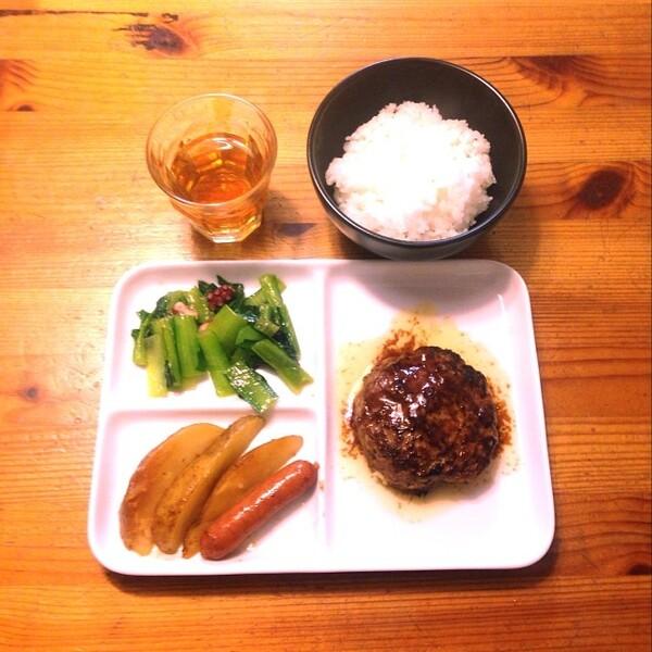 タコと小松菜の炒め物