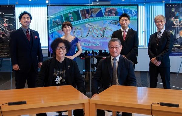会見に出演した(後方左から)野村光洋、守谷 由香、永峰大輔、青木高志、(前段左から)ささきフランチェスコ、日下部勝徳