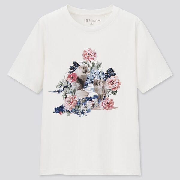ユニクロのポール&ジョーUTグラフィックTシャツの写真