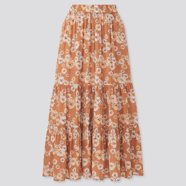 ユニクロのポール&ジョーティアードスカートの写真