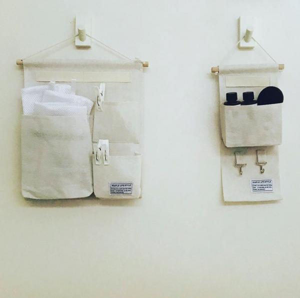 ダイソーのランドリー収納をおしゃれに使用する画像