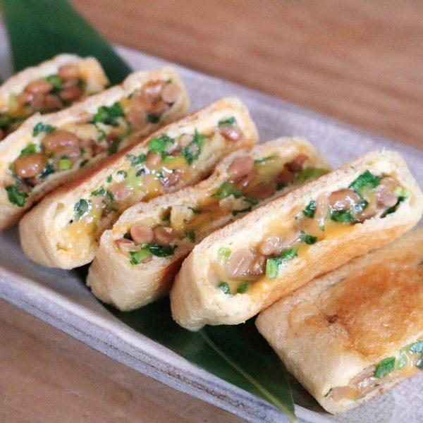 絶品!納豆チーズの油揚げ包み焼きレシピ