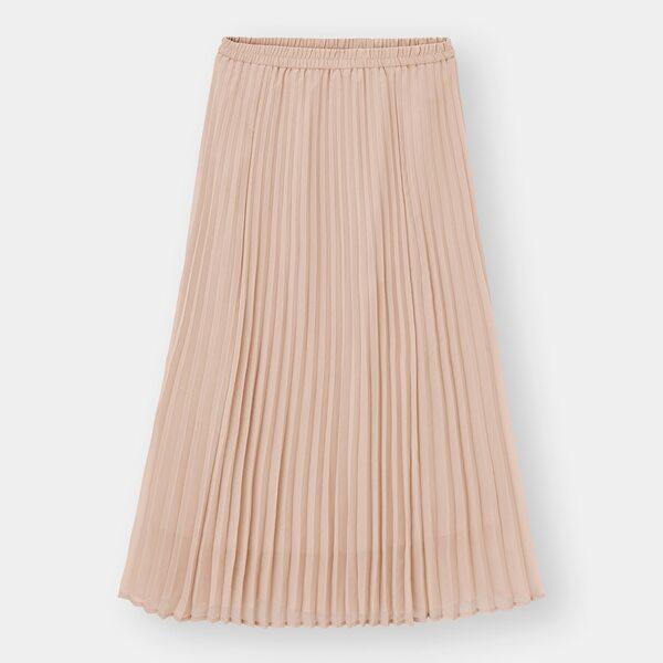 GUのプリーツロングスカートの写真