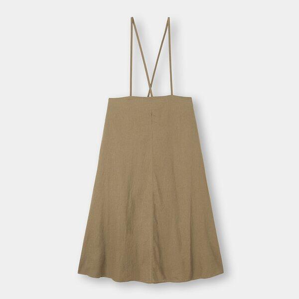 GUのリネンブレンドサスペンダー付きスカートの写真