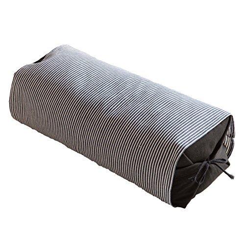 そばがら 枕 日本製 (高さ:高め) 消臭・抗菌加工 高さ調整可能 18×47×16cm ネイビー 32001907